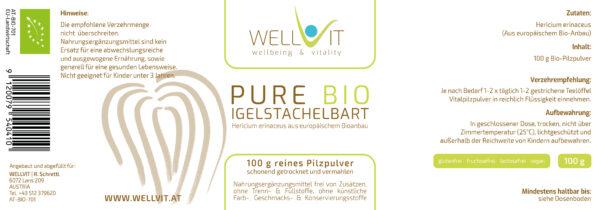 Bio Igelstachelbart Hericium Pulver