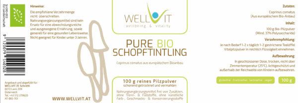 Bio Schopftintling Coprinus Pulver