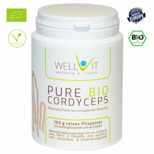 Pure Bio Raupenpilz 100g Cordyceps sinensis Vitalpilzpulver