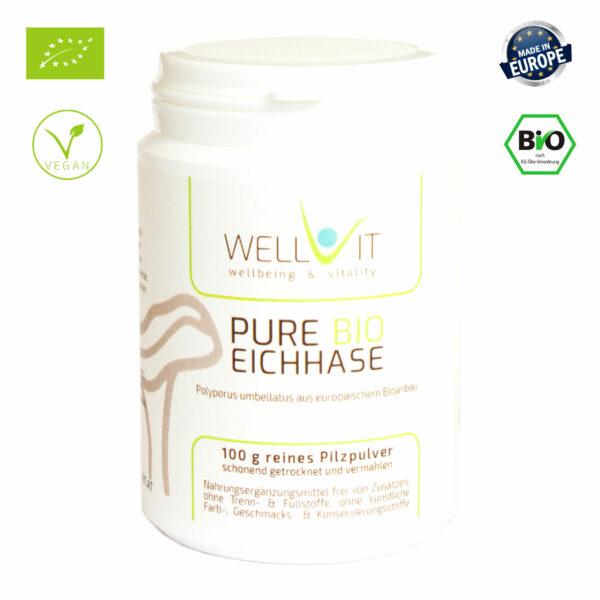 Pure Bio Eichhase 100g Polyporus umbellatus EU-Bio Vitalpilzpulver