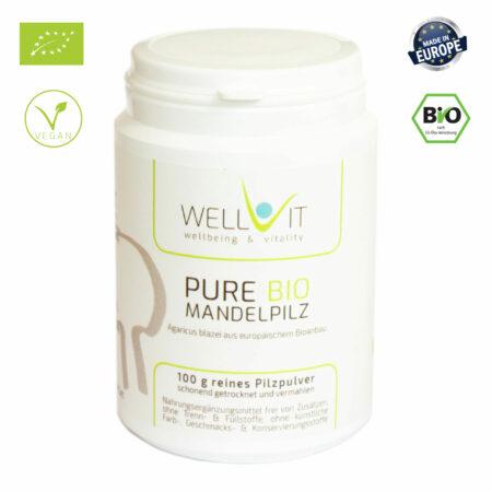 Pure Bio Mandelpilz ABM 100g Agaricus blazei Vitalpilzpulver