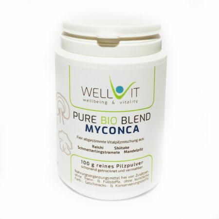 Pure Bio Blend Myconca 100g Pilzmischung aus Reishi Shiitake Mandelpilz