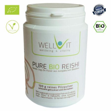Pure Bio Reishi 100g Ling-Zhi Vitalpilzpulver
