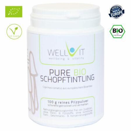 Pure Bio Schopftintling 100g Coprinus comatus Vitalpilzpulver